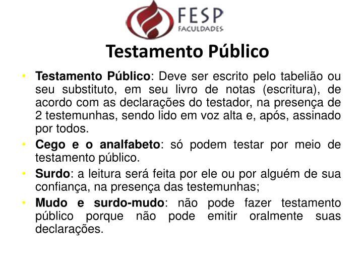 Testamento Público