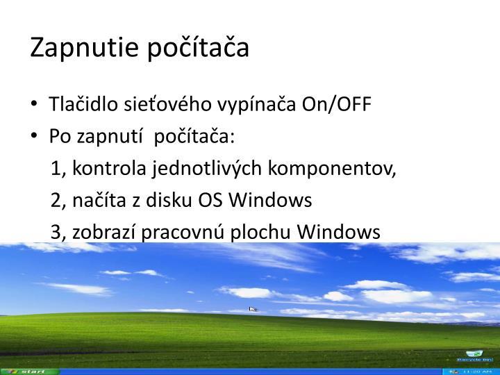 Zapnutie počítača