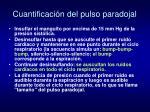 cuantificaci n del pulso paradojal