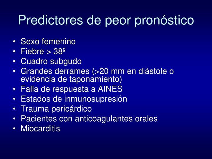 Predictores de peor pronóstico