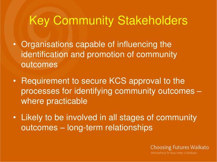 Key Community Stakeholders