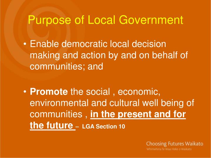 Purpose of Local Government