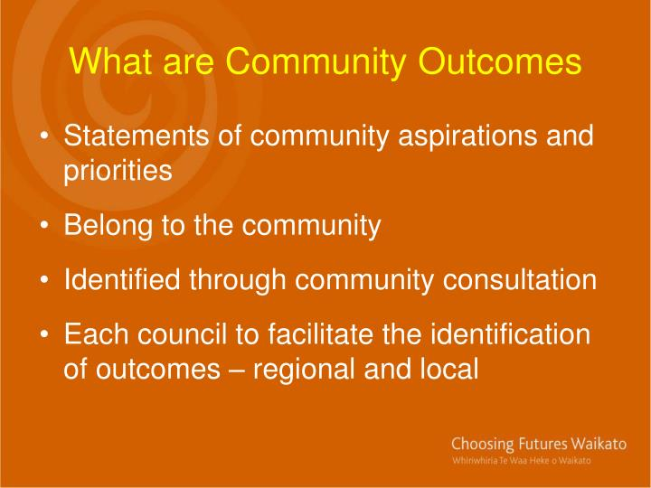 What are Community Outcomes