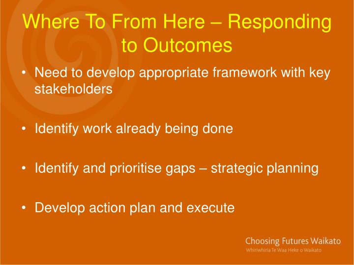 Where To From Here – Responding to Outcomes