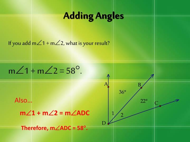 Adding Angles