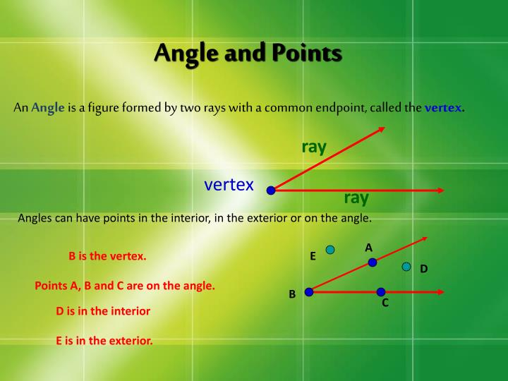 Angle and Points