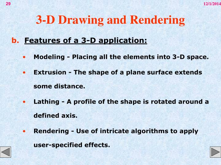 3-D Drawing and Rendering