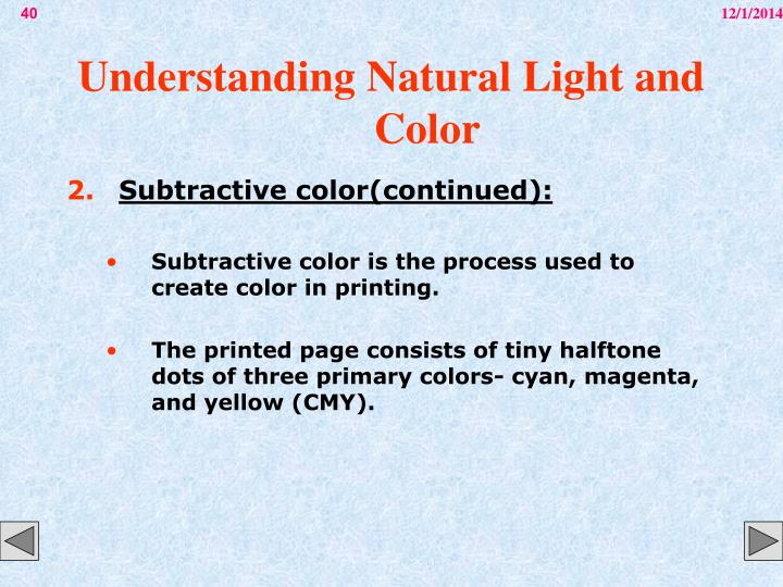 Understanding Natural Light and Color
