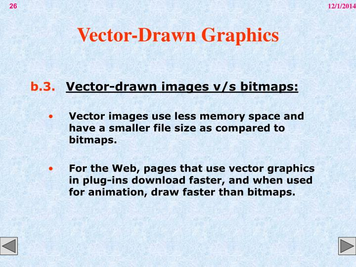 Vector-Drawn Graphics