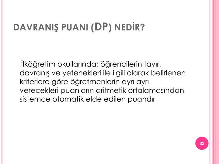 DAVRANIŞ PUANI (