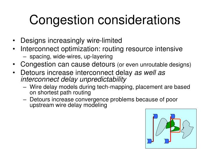 Congestion considerations