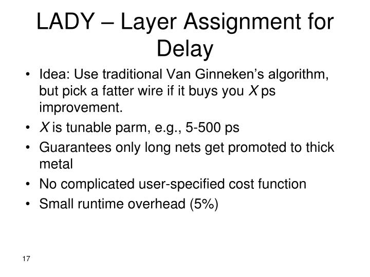 LADY – Layer Assignment for Delay