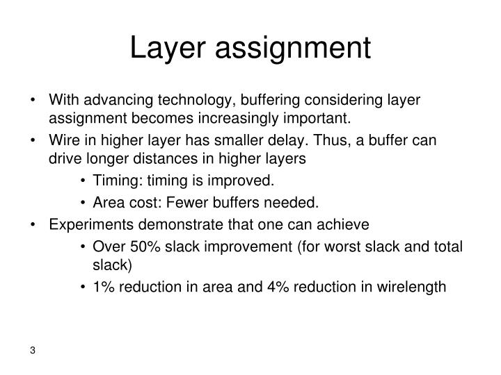 Layer assignment