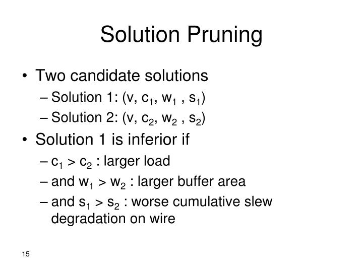 Solution Pruning