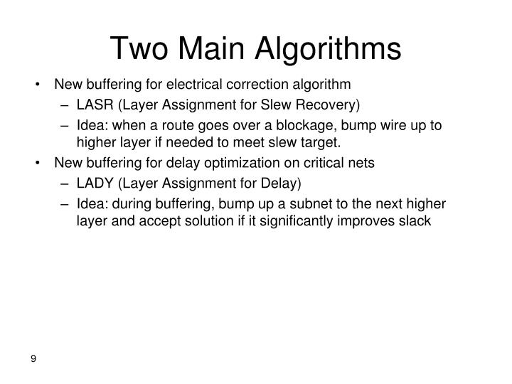 Two Main Algorithms