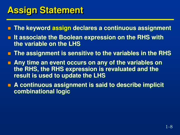 Assign Statement