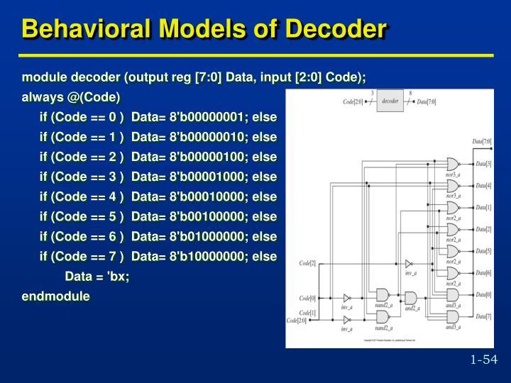 Behavioral Models of Decoder