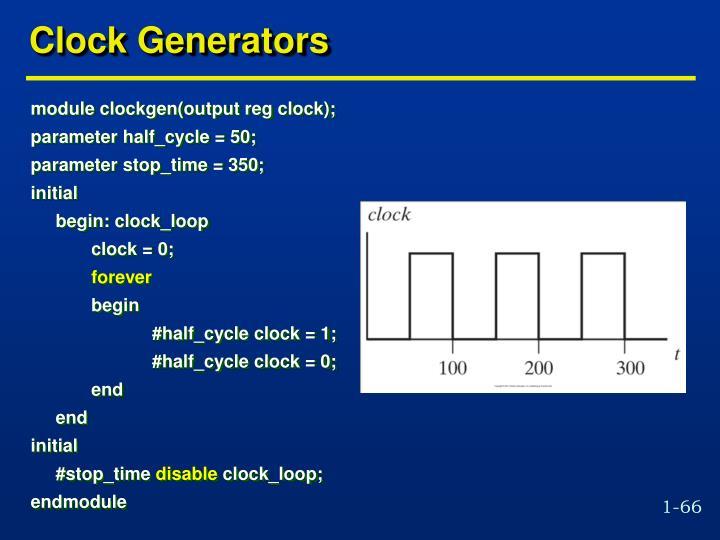 Clock Generators