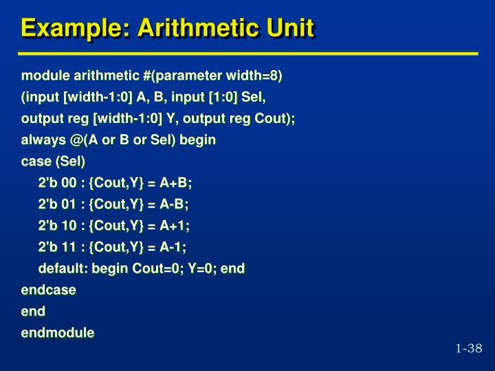 Example: Arithmetic Unit