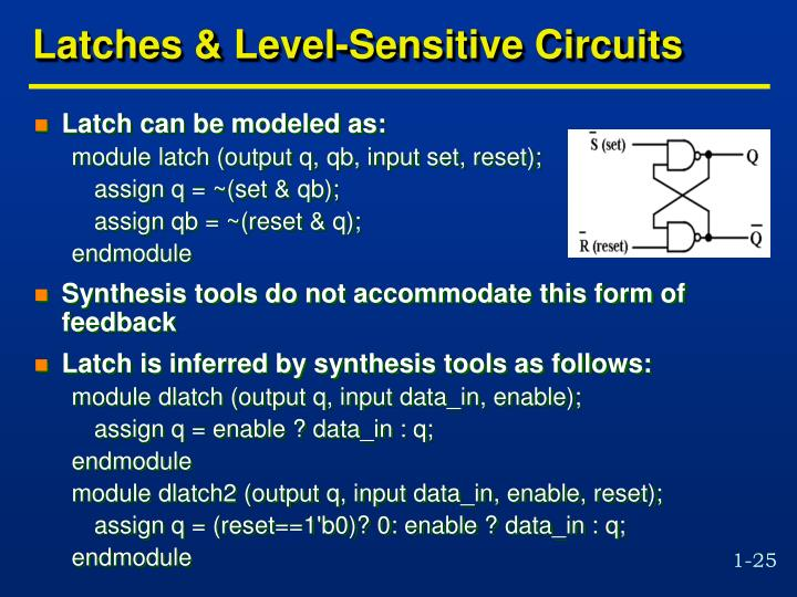 Latches & Level-Sensitive Circuits