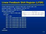 linear feedback shift register lfsr2