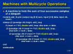 machines with multicycle operations