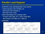 parallel load register