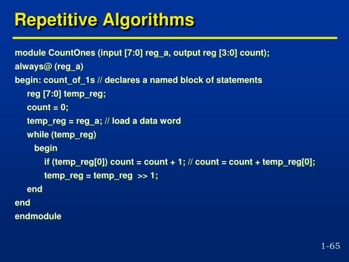 Repetitive Algorithms