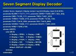 seven segment display decoder
