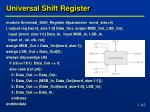 universal shift register