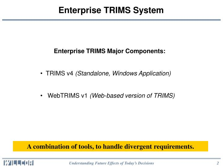 Enterprise trims system