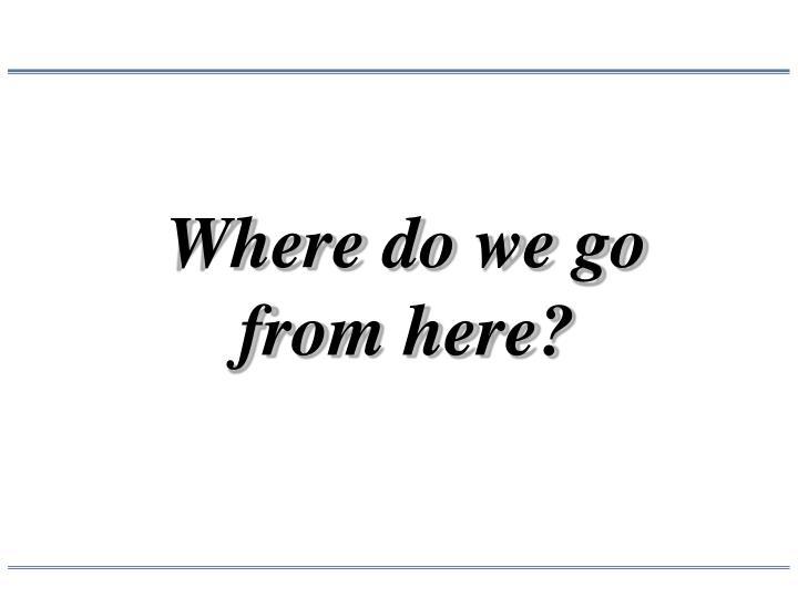 Where do we go