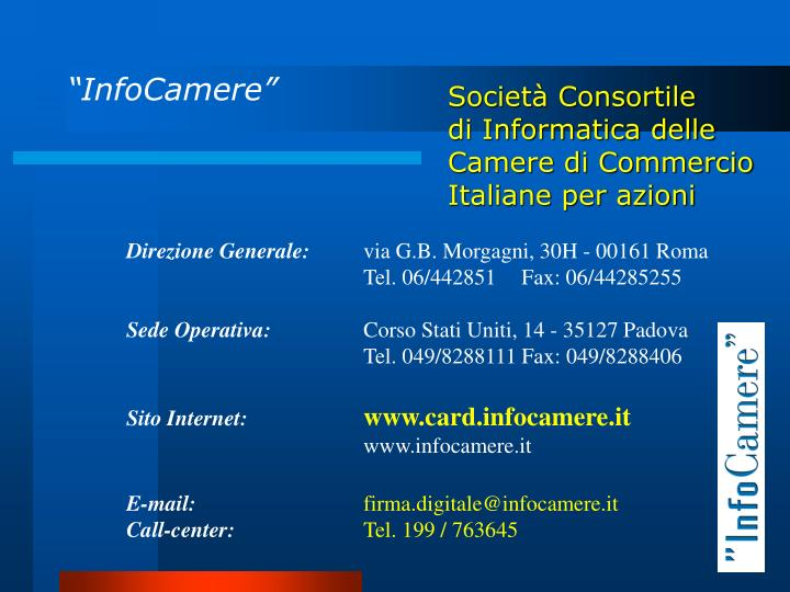 """InfoCamere"""