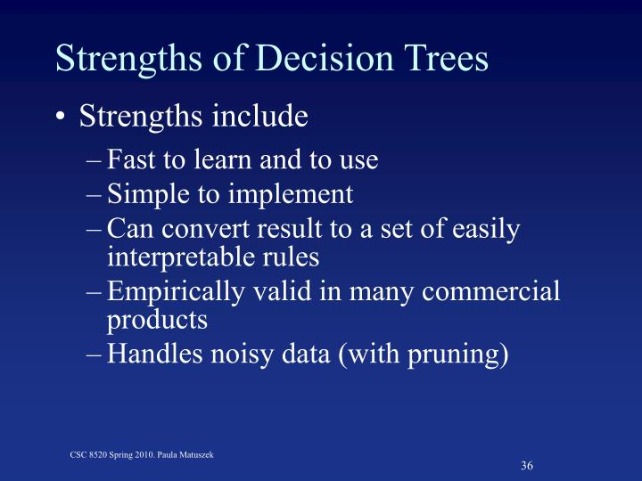 Strengths of Decision Trees