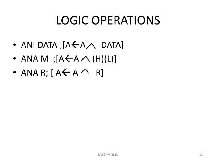 LOGIC OPERATIONS
