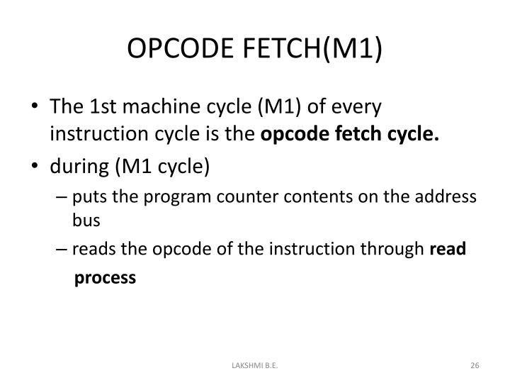 OPCODE FETCH(M1)