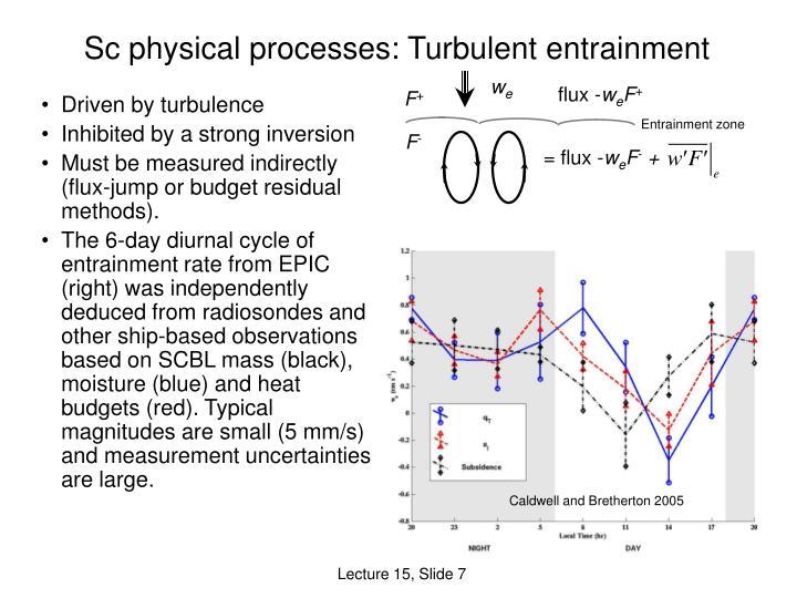 Sc physical processes: Turbulent entrainment