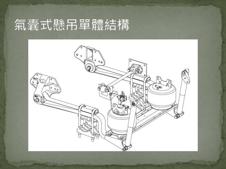 氣囊式懸吊單體結構