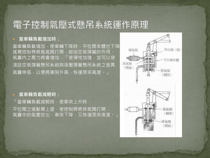 電子控制氣壓式懸吊