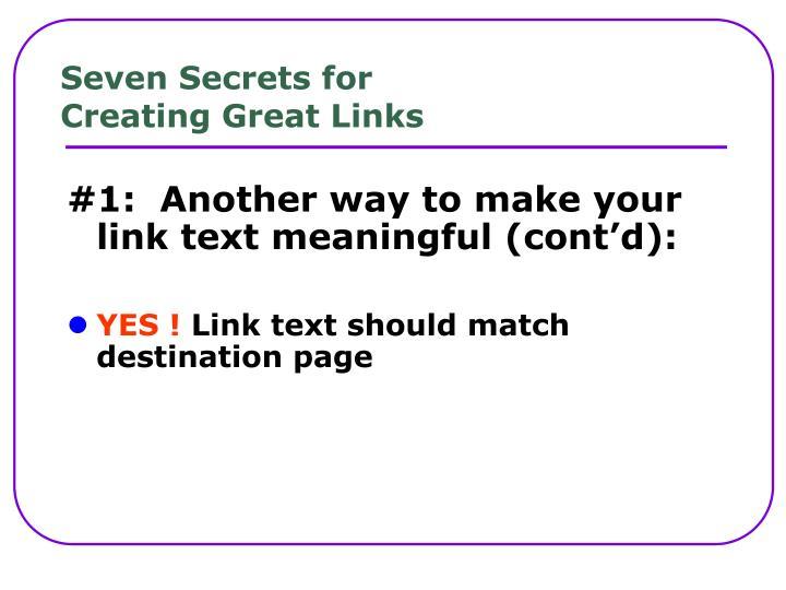 Seven Secrets for