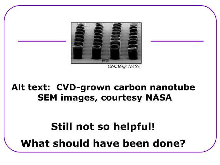 Alt text:  CVD-grown carbon nanotube