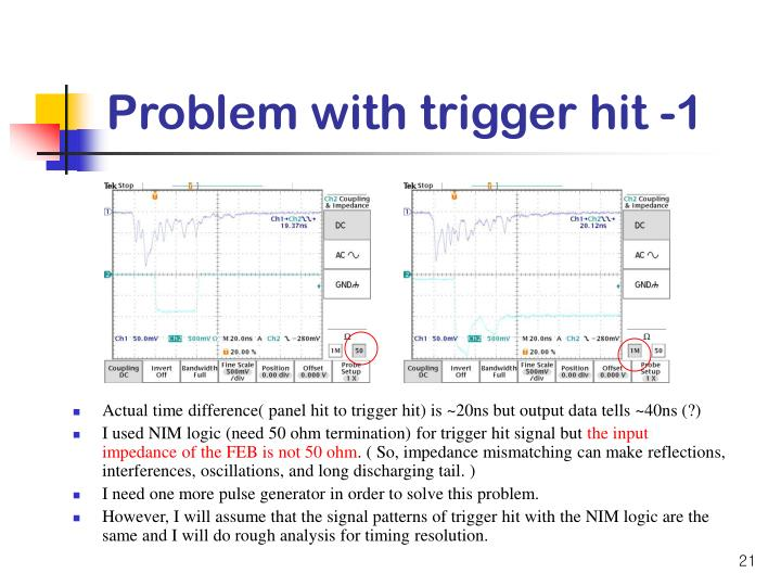 Problem with trigger hit -1