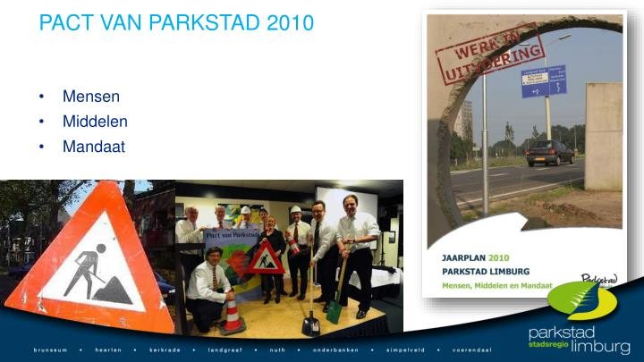 PACT VAN PARKSTAD 2010
