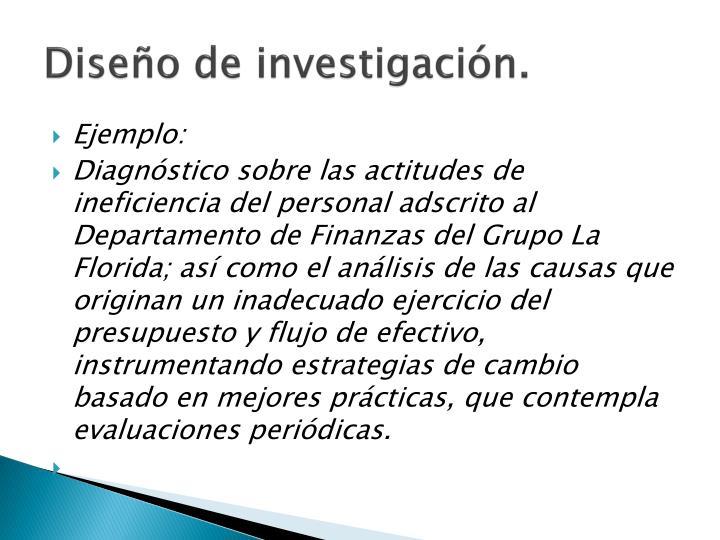 Diseño de investigación.