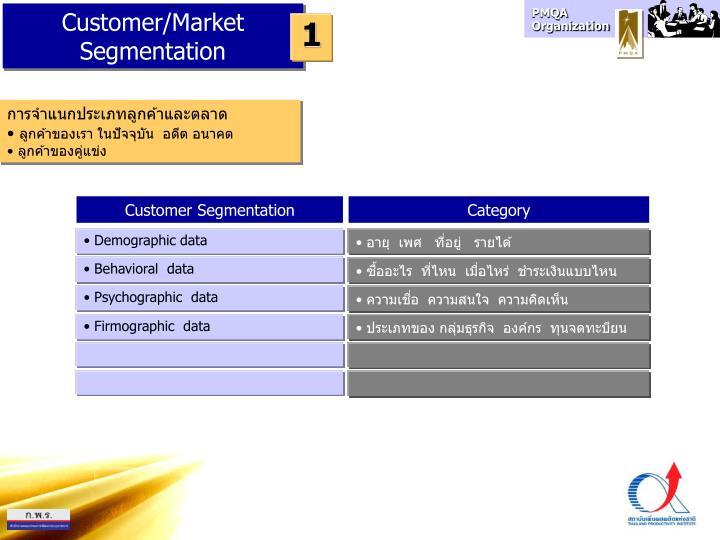 Customer/Market Segmentation