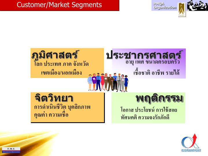 Customer/Market Segments