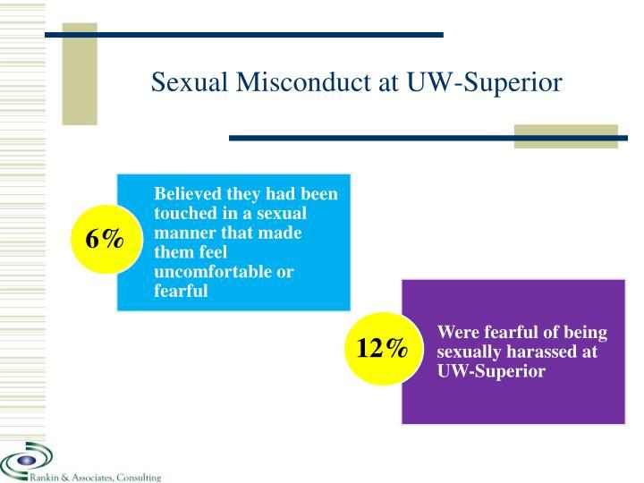 Sexual Misconduct at UW-Superior