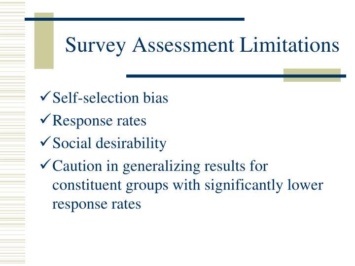 Survey Assessment Limitations