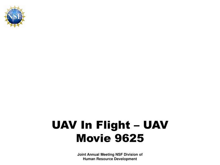UAV In Flight – UAV Movie 9625