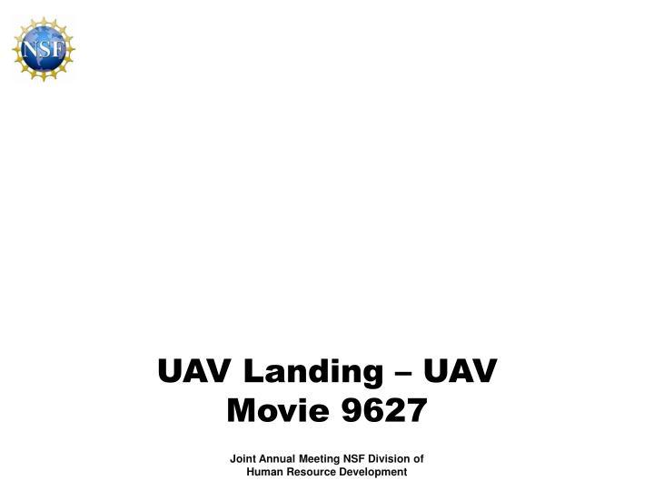 UAV Landing – UAV Movie 9627